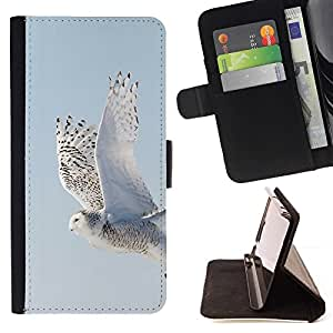 Momo Phone Case / Flip Funda de Cuero Case Cover - Gris Winter Snow Hawk - Samsung Galaxy Note 5 5th N9200