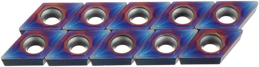 4Pcs 12Mm Lathe Turning Tool Holder With 10Pcs Blue Carbide Inserts