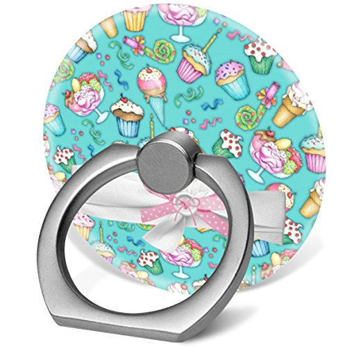Cell Phone Ring Holder Universal Phone Finger Ring Stand Car Mount 360 degree Rotation Works for Iphone 5 6 7 8 X Plus Samsung Galaxy S8 S9 NOTE9 Ipad Tablet Etc. cupcakes ice cream cones