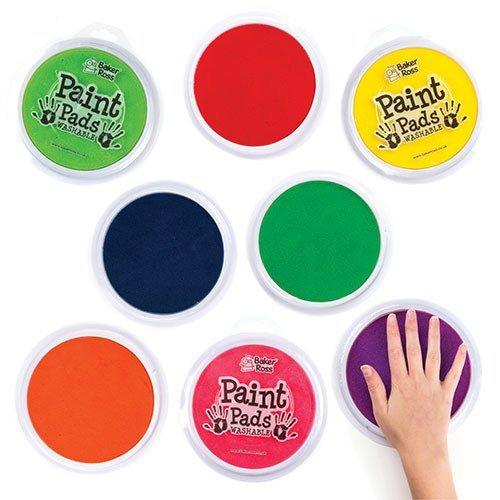 Baker Ross Pad Verde Da Pittura Perfetto per pittura e timbratura per bambini 15cm