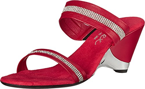 onex-stunning-red-womens-wedge-shoes