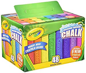 amazon com crayola washable sidewalk chalk pack of 48