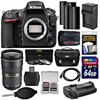 Nikon D810 Digital SLR Camera Body with 24-70mm f/2.8G Lens + 64GB Card + 2 Batteries/Charger + Case + GPS + Grip + Kit Explained Review Image