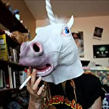 frisket remover - Itemap Unicorn Horse Head Mask Latex Prop Animal Cosplay Costume Party Halloween Mask