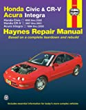 img - for Honda Civic, CR-V & Acura Integra 1994-2001 book / textbook / text book