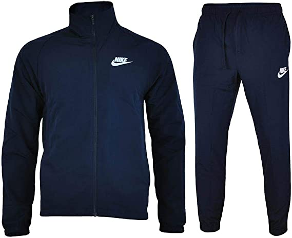 Nike M Nsw Trk Wvn Basic Chándal, Hombre, Azul (Obsidian/White), L ...