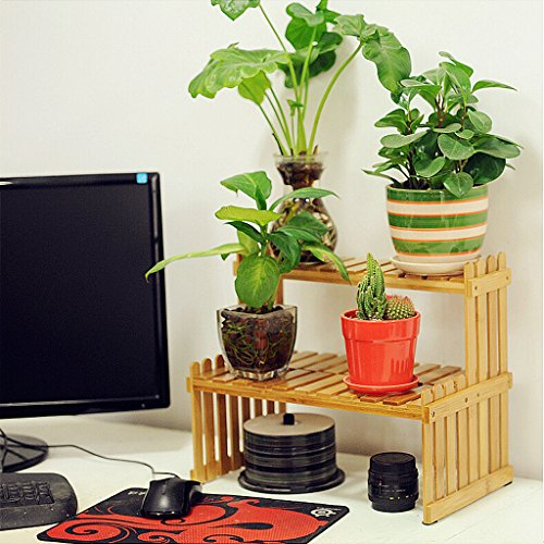 Solid Wood Flower Stand Suitable For Living Room Balcony Computer Desk   3 Size (Size : 262130cm) by TY BEI (Image #6)'