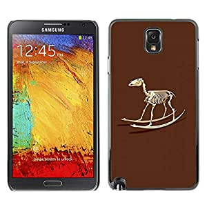 Paccase / SLIM PC / Aliminium Casa Carcasa Funda Case Cover para - Skeleton Rocking Toy Horse - Samsung Note 3 N9000 N9002 N9005