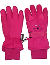 Kids Cute Animal Faces Cold Weather Thinsulate Waterproof Gloves