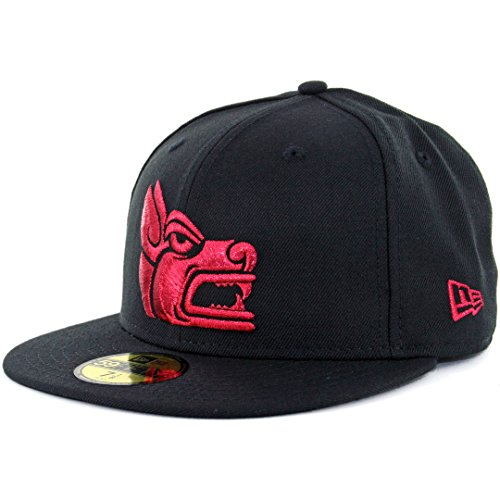 fan products of New Era 5950 Club Tijuana Xolos Prehispanic Fitted Hat (Black) Mexico Soccer Cap