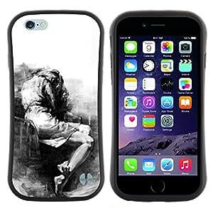 "Hypernova Slim Fit Dual Barniz Protector Caso Case Funda Para Apple (4.7 inches!!!) iPhone 6 / 6S (4.7 INCH) [Triste Llorando Depresión melancólica Heartbreak""]"