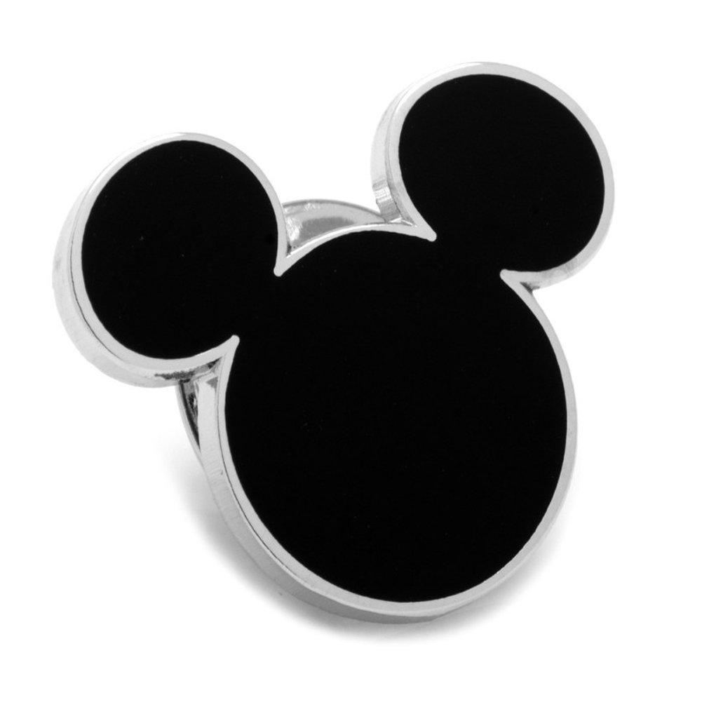 Disney Black Mickey Mouse Silhouette Lapel Pin