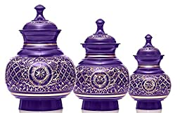 Deep Violet Engraved Series Pet Urn (Small, Brass Engraving)