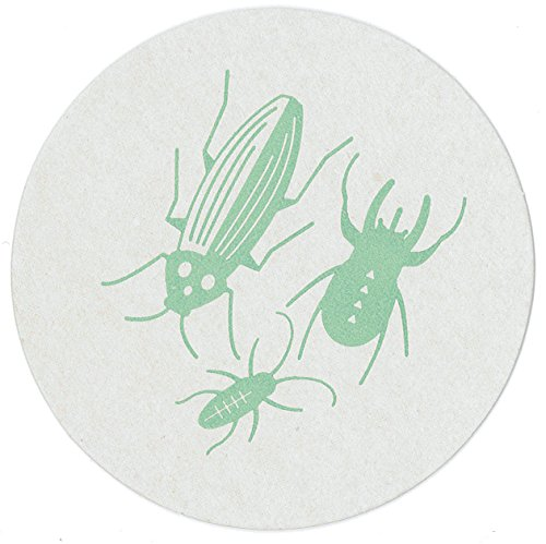 Beetles, Bugs and Insects Paper Drink Coasters, Recycled Pulpboard, made in America by REVEL & Co