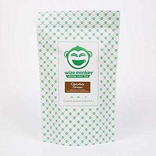 Wize Monkey Chocolate Dream Coffee Leaf Tea Bags, Low Caffeine, 50 Tea Bags