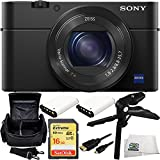 Sony DSC-RX100M IV DSC-RX100 Mark IV DSC-RX100 IV DSC-RX100M4 Cyber-shot Digital Still Camera 16GB Bundle 7PC Accessory Kit Includes SanDisk 16GB Extreme UHS-I U3 SDHC Class 10 Memory Card (SDSDXN-016G-G46) + 2 Extended Life Replacement NP-BX1 Batteries + Pistol Grip/Table Top Tripod + Carrying Case + Micro HDMI Cable + Microfiber Cleaning Cloth