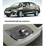 Autopop Premium Quality Bentley Type Chrome Fog Lamp Cover For Maruti Suzuki Ciaz (Set Of 2Pc)
