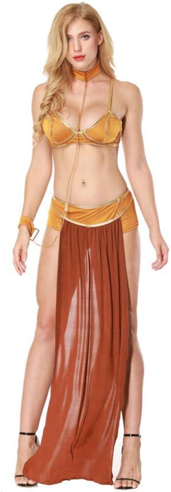 hhalibaba Star Wars Cosplay Disfraces Princesa Leia Slave Bra + ...