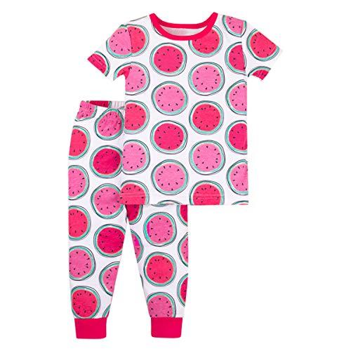 LAMAZE Organic Baby Girls' Toddler 2 Piece Sleepwear, Pink Watermelons, 18M (2 Piece Baby Girl Outfit)