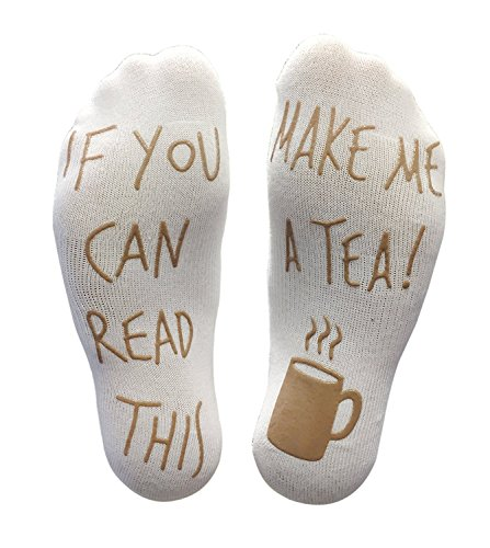 Tea Drinker Drinks - 'If You Can Read This Make Me A Tea' Funny Socks - Perfect Joke Novelty Gift For Men & Women