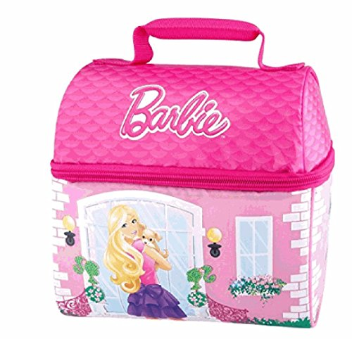 Thermos Barbie Pink Doll House Insulated Lunch Box