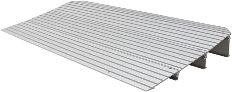"Silver Spring 3-1/4"" High Aluminum Mobility Threshold Ramp for Wheelchairs, Scooters, and Power Chairs"