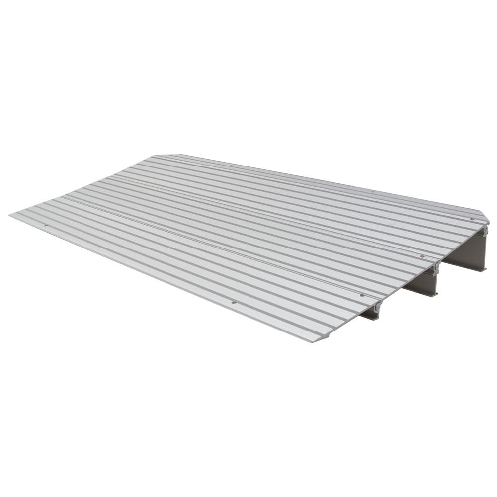 Silver Spring 3-1/4'' High Aluminum Mobility Threshold Ramp for Wheelchairs, Scooters, and Power Chairs