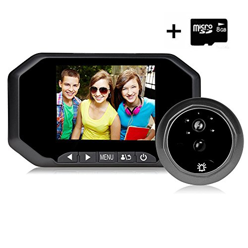 Digital Door Peephole Viewer Camera, 3.5 Inches PIR Motio...