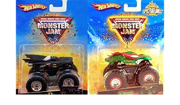 Amazon.com: Hot Wheels Monster Jam Batman Vs Teenage Mutant ...