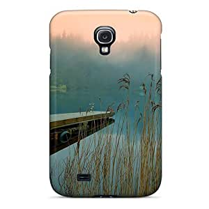 New Premium Case Cover For Galaxy S4/ Lake Pontoon Pier Protective Case Cover