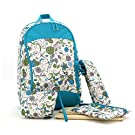 "Mariego Diaper Backpack Bags Printing Floral Travel Bag 4 in 1 (12.6""x 8""x 17.7"")"