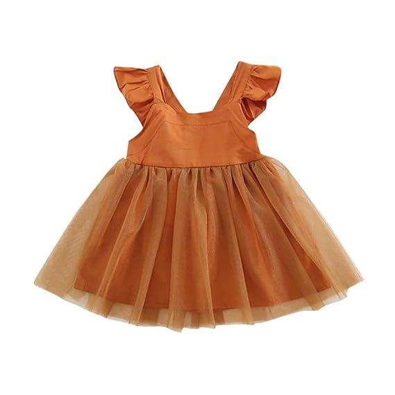 Vestidos Niñas Fiesta, K-youth® Ropa de bebe niña Verano Niña Chaleco Sin