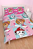 Paw Patrol Stars' Double Duvet Set - Repetitive Print Design
