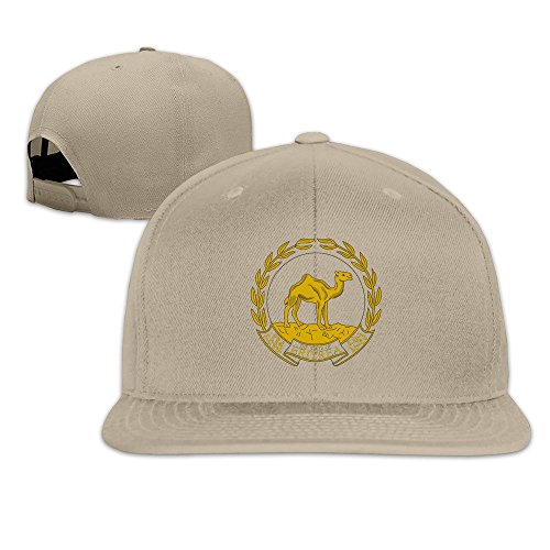 (YP Men' S Coat Of Arms Of Eritrea Flatbrim Baseball Cap Natural One)