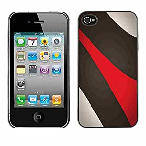 Shell-Star ( Abstract Lines ) Snap On Hard Protective Case For Apple iPhone 4 / 4S