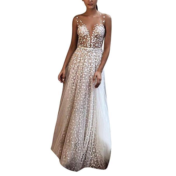 337033784 MINXINWY Vestidos de Fiesta Mujer Largos Sexy, Vestido Boda de Mujer ...