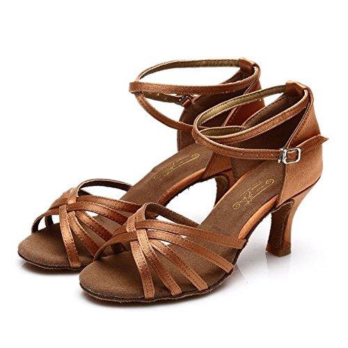 Sneaker Sandale Heel XUE 41 D Damen Performance Ein Schuhe Schwarz Schuhe Latin Größe Praxis Abend Party Band amp; Farbe Tie Seide Ballroom Schnalle Yq4Y0Af