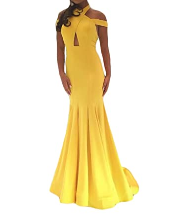 Z Sexy Halter Open Back Long Mermaid Prom Dresses Formal Evening Party Dresses for Women 2018 at Amazon Womens Clothing store: