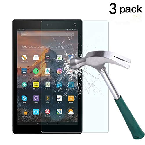 All-New Fire HD 10 Screen Protector [3-Pack],TANTEK Anti Scratch,Bubble Free,Tempered Glass Screen Protector for All-New Fire HD 10 Tablet(7th 2017 Release)