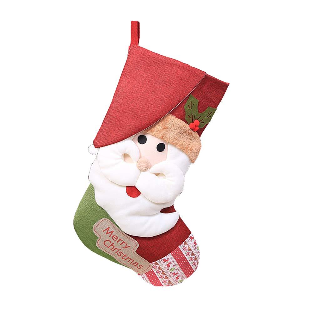 missfiona Christmas Home Decor 31'' Extra Large Gift Holder Party Accessory Stockings(Santa)