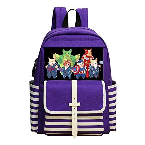 ackpacks Daypack Shoulder Bag School Rucksack Back to School (Shih Tzu Poodle Puppies)