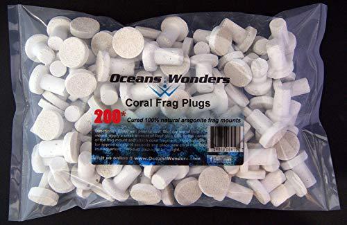 Oceans Wonders Coral Frag Plugs 200pc Bulk Value Pack