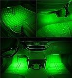 Onepalace 4Pcs Car LED Interior Underdash Lighting Kit Led Car Interior Light Auto Interior Lights Car Auto Interior LED Atmosphere Lights (Green)