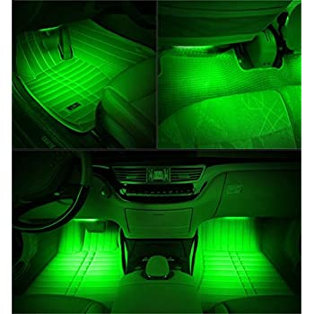 cutequeen 30cm led car flexible waterproof light strip green pack of 4 automotive. Black Bedroom Furniture Sets. Home Design Ideas