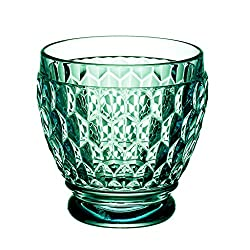Green Boston Blue Crystal Shot Glass, Set of 4