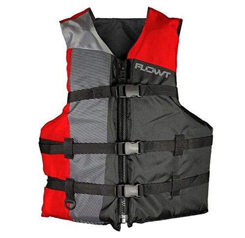 Flowtマルチスポーツ40302 – 2-unvマルチスポーツライフベスト、タイプIII PFD、赤、大人ユニバーサル、Fits胸サイズ30