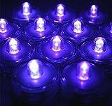 Waterproof Wedding Underwater Battery Sub LED Lights Set of 12 Purple