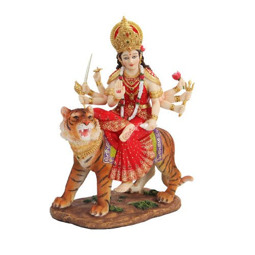 PTC 8.5 Inch Durga Mythological Indian Hindu Goddess Statue Figurine