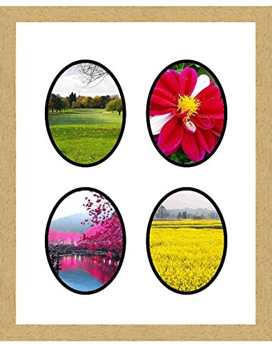 Gold Frames by Mail multimat-58936-aam0114 Four Oval Opening Collage Frame for 6 x 8 Photo