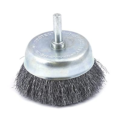 """Forney 72270 Wire Cup Brush, Fine Crimped Circular Flared with 1/4"""" Shank, 2-1/2"""""""